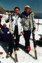Тесты свеженьких Rossignol. Май 2003 г. Курорт Целль-ам-Зее - Капрун / Австрия.