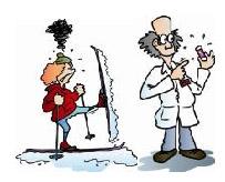 - Доктор, что с моими лыжами? - Барышня, это «подлип». У меня есть для вас замечательное средство – вот эта мазь из фиолетовой баночки. Гарантирую 100-процентное «выздоровление».
