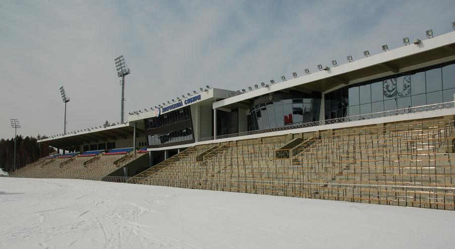 Вид на трибуну от стадиона
