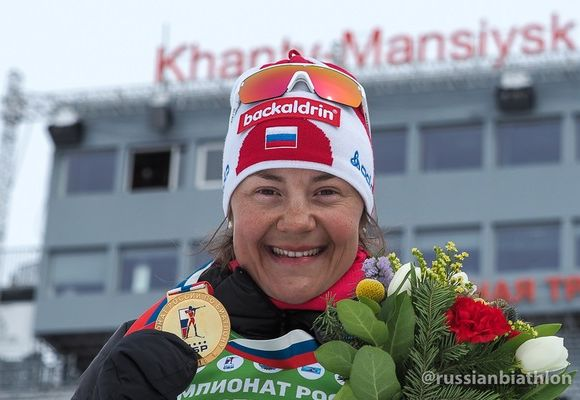 Юрлова-Перхт выиграла гонку преследования начемпионате Российской Федерации побиатлону