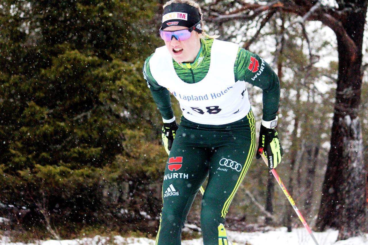 Виктория Карл, победительница гонки.