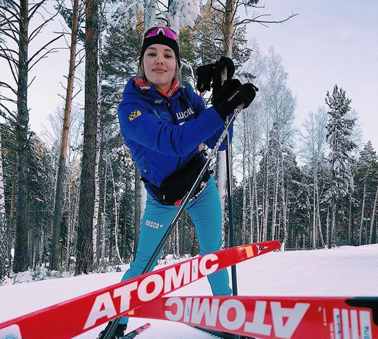 Кристина Кускова и ее самые быстрые лыжи.