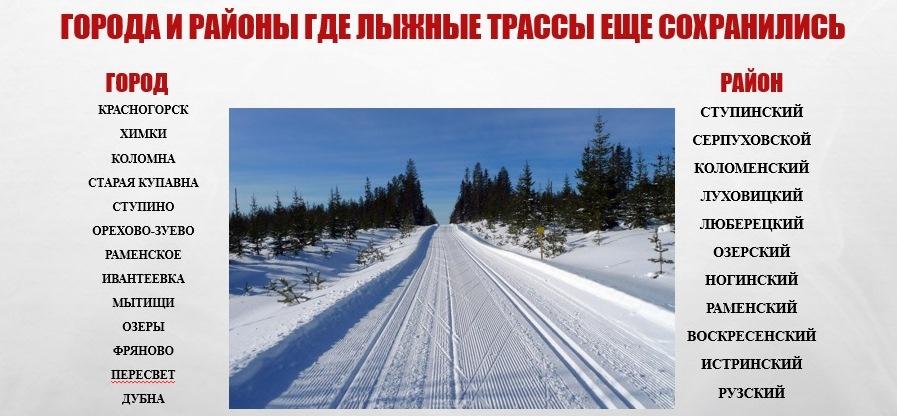 Фотография из презентации Алексея Карцева о наличии лыжных трасс в области.
