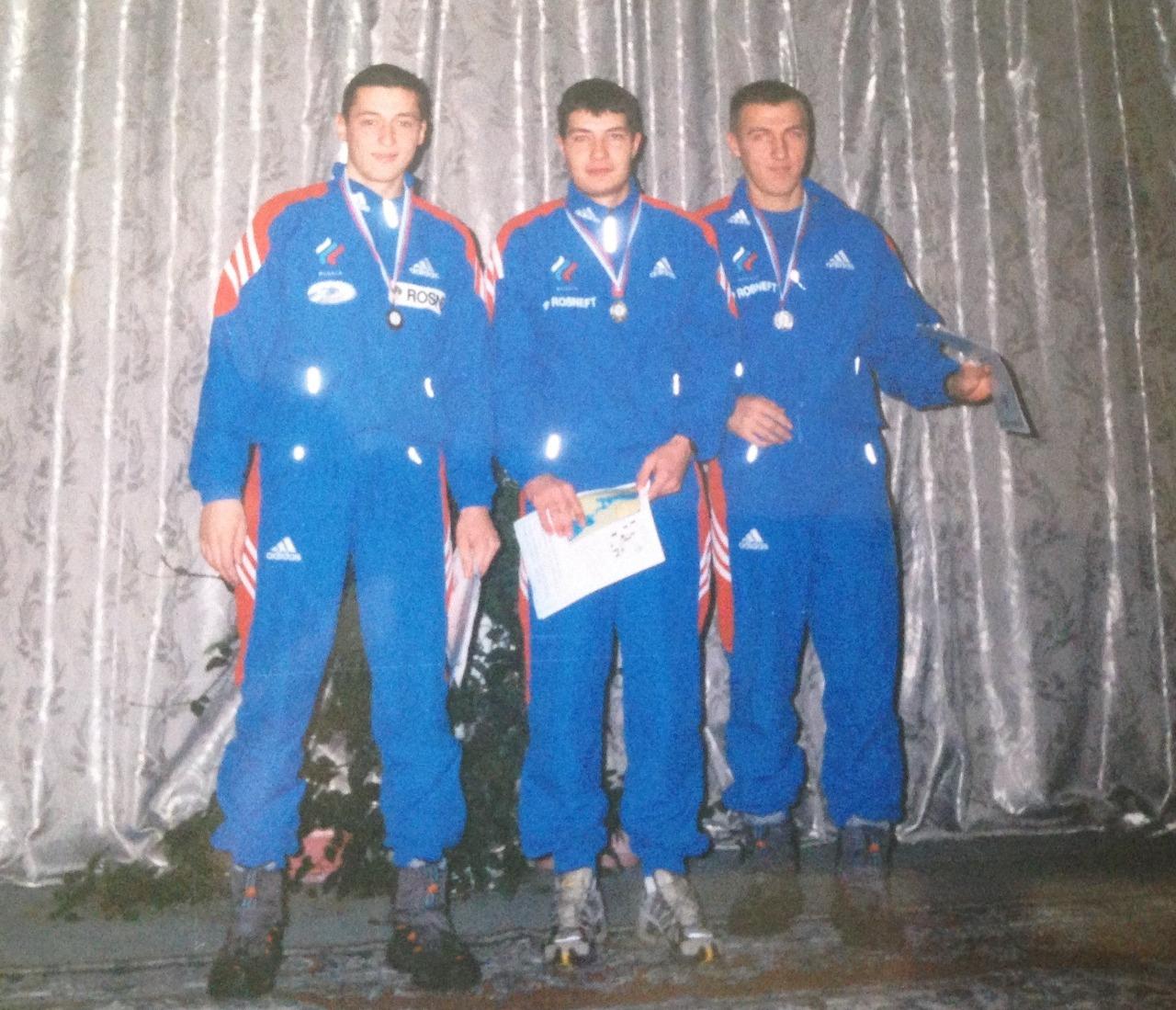 Александр Легков, Алексей Петухов, Евгений Дементьев.