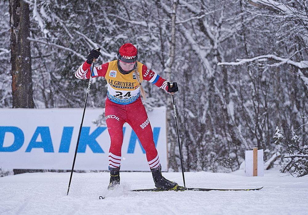 Анна Нечаевская в дистанционной гонке в Бейтостолене завоевала право бежать в эстафете в первой команде.
