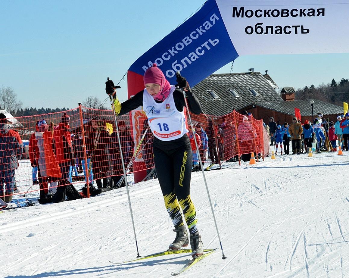 Арина Будильникова на старте.