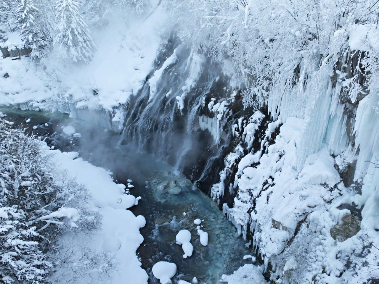 Водопад по дороге в горы, о. Хоккайдо.