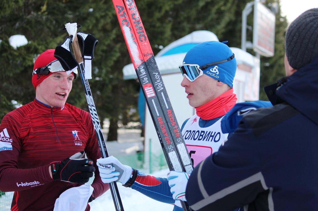 Сергей Волков и Кирилл Латышев (Подольск) после финиша.