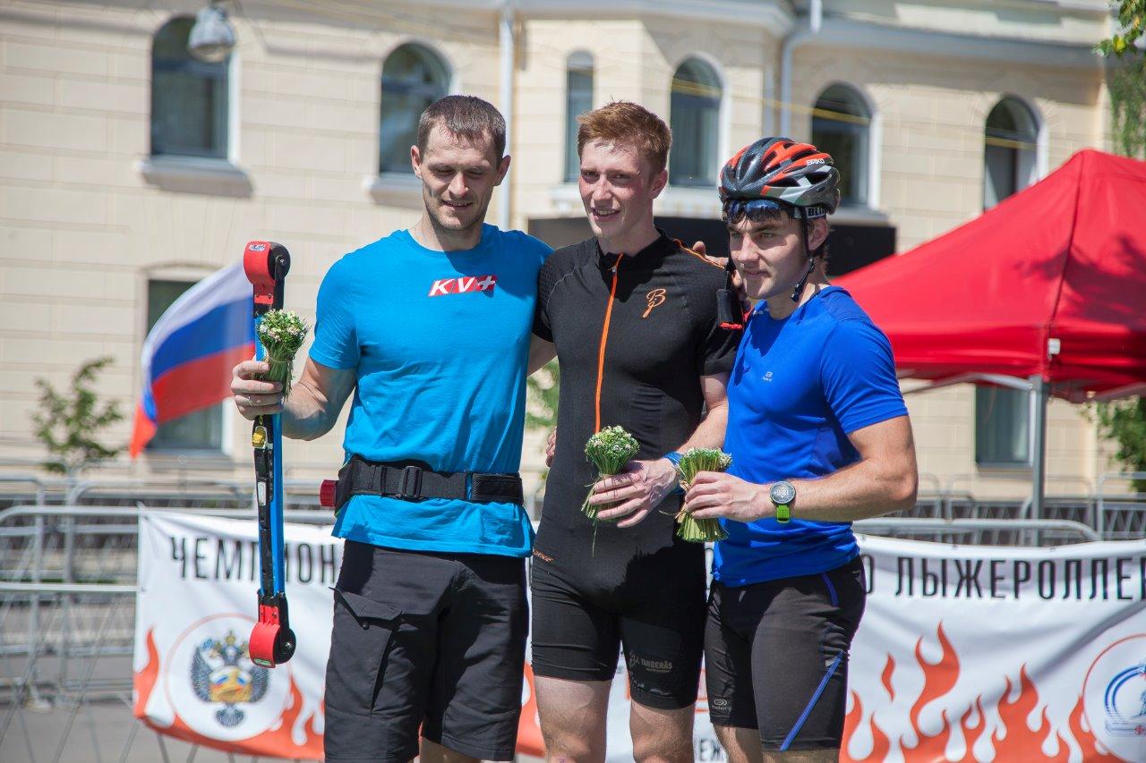 Тройка призеров мужчин: Евгений Цепков, Андрей Нищаков, Никита Куракин