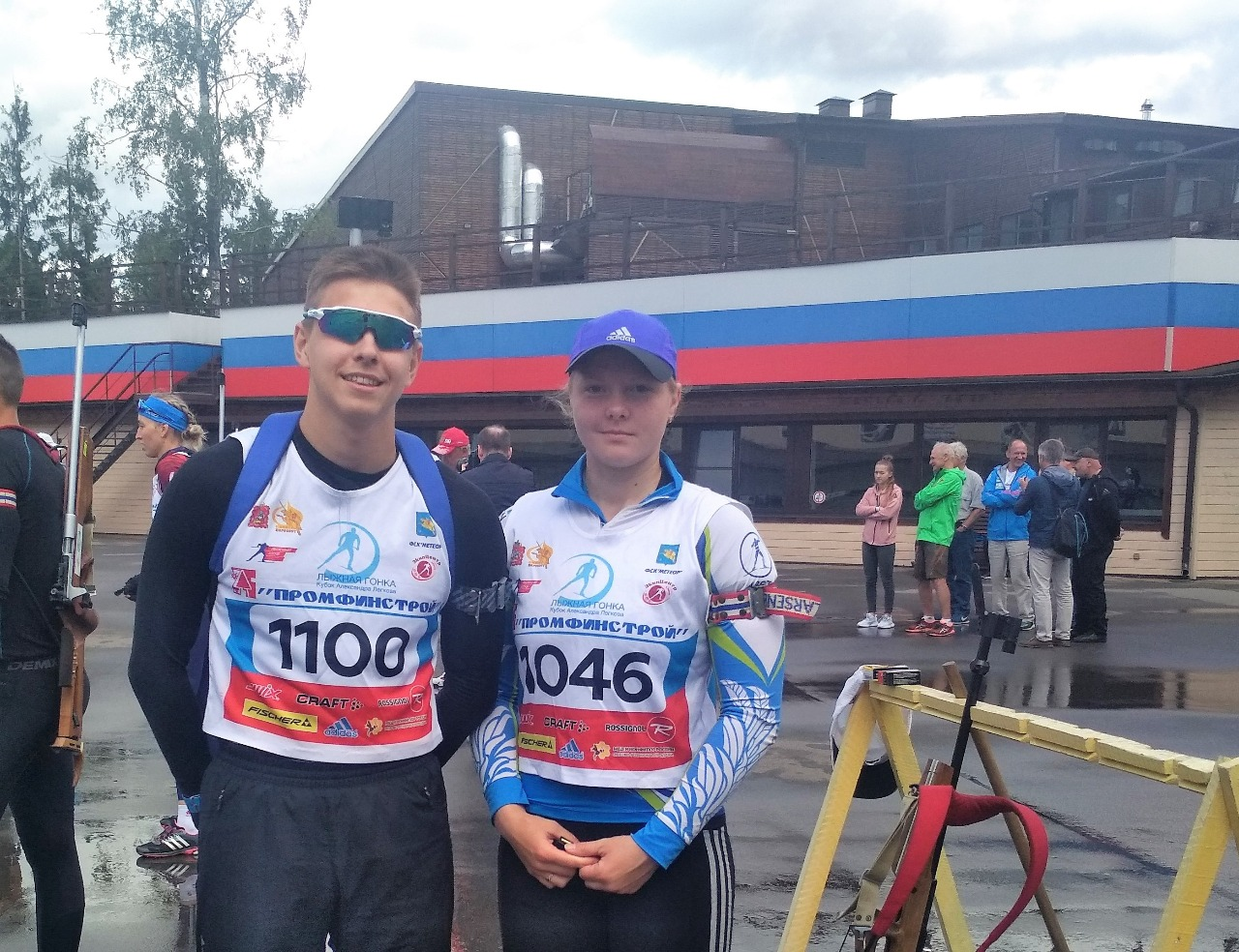 Победители обеих стрелковых эстафет Евгений Емерхонов и Амина Иванова