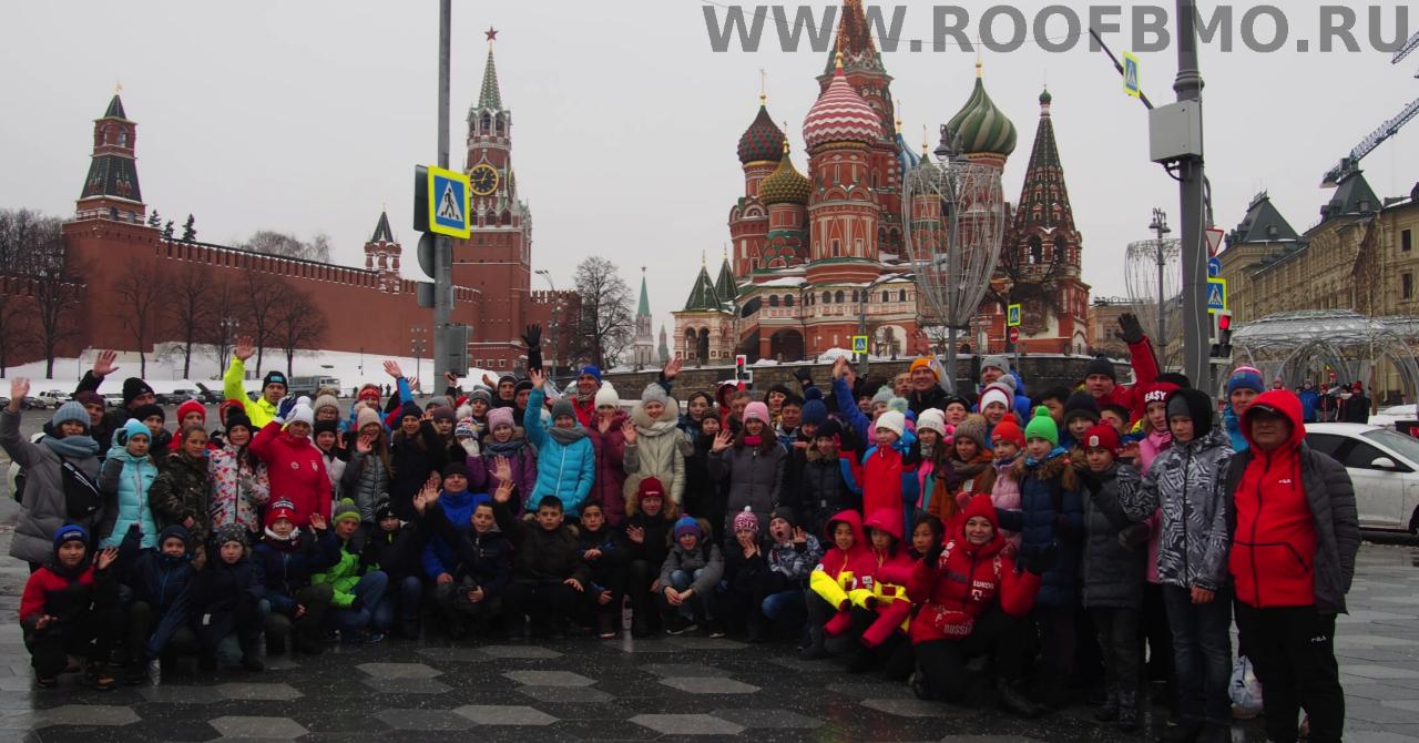 Групповое фото участников Открытого Кубка на Красной площади.