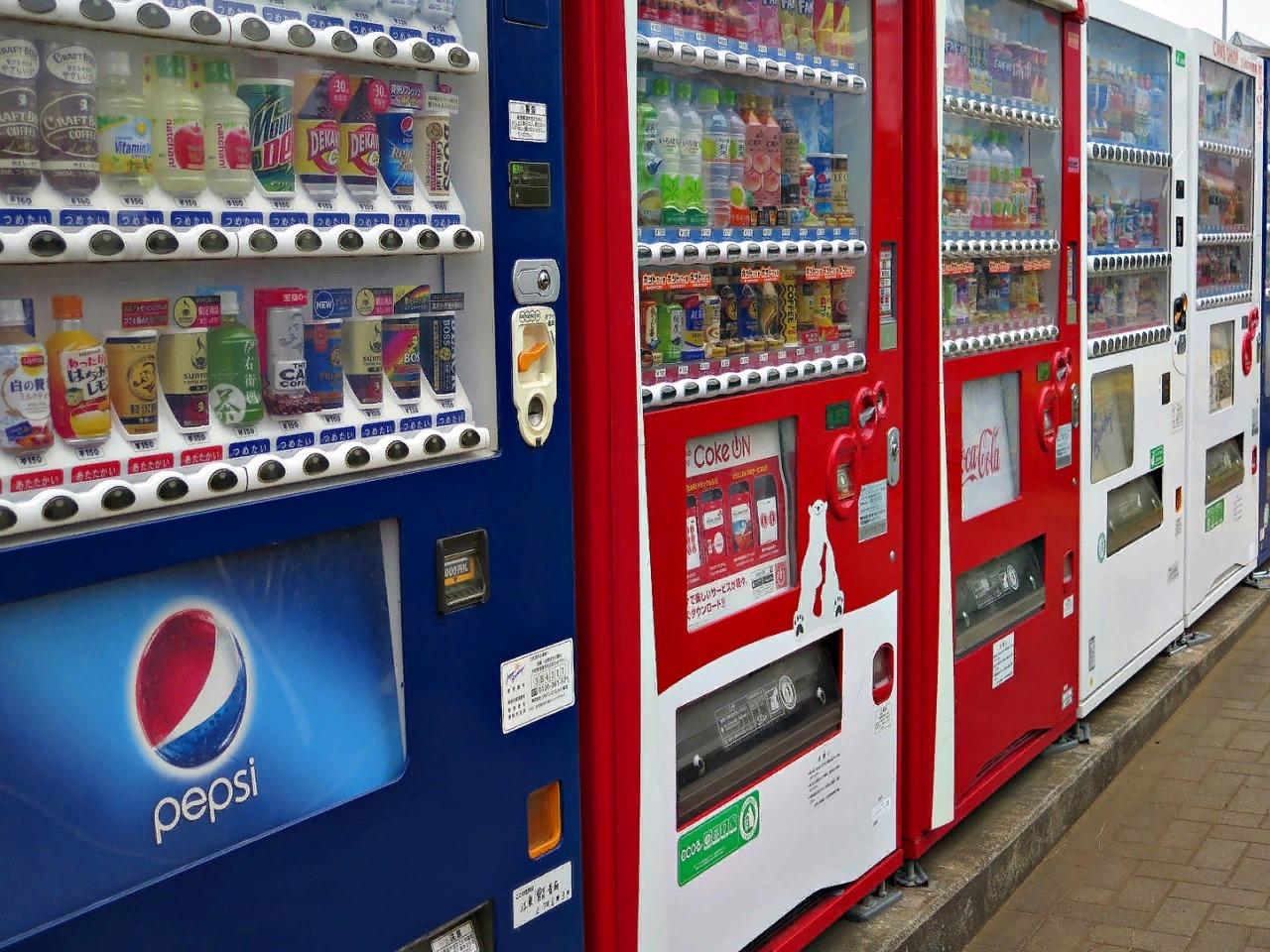 Вендинговые автоматы в Японии повсюду, даже в кафе на горных склонах.