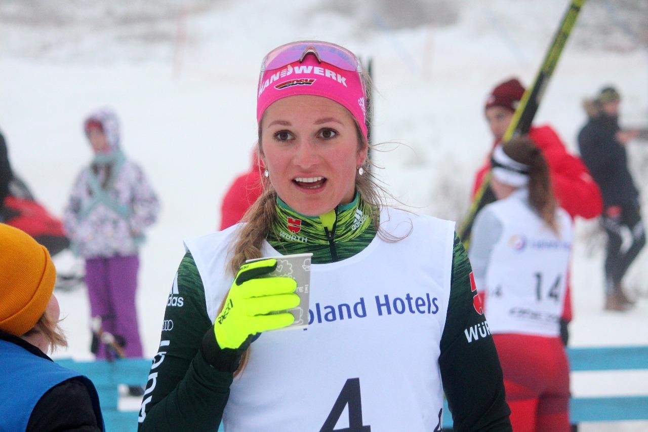 Лаура Гиммлер довольна своим результатом в четвертьфинале. Она продолжит борьбу в полуфинале.