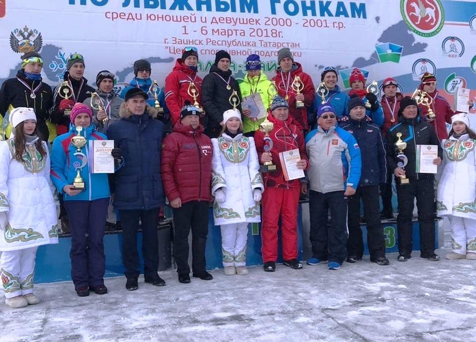 Юноши старшего возраста заняли в эстафетной гонке на первенство России почетное третье место.