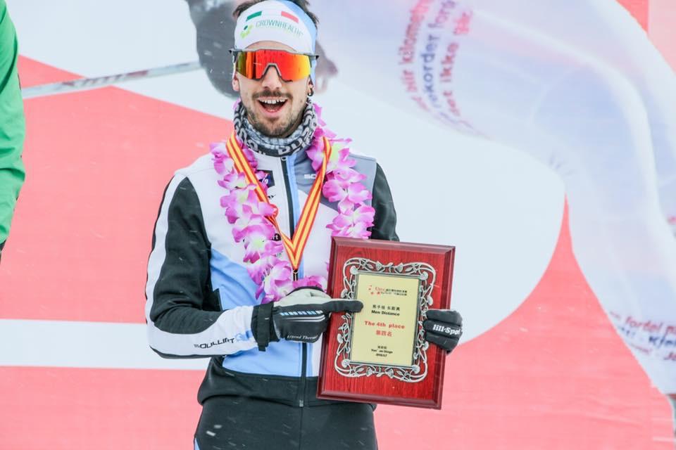 Эмануэле Беккис на церемонии награждения China Ski Tour