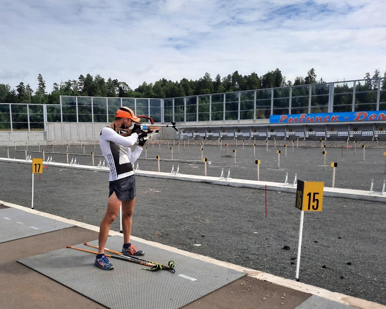 Антон Бабиков на тренировке в Дёмино