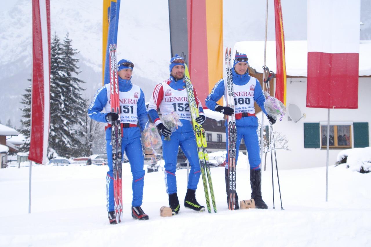 Спринтеры Каминского на одной из ФИСовских гонок в Альпах.