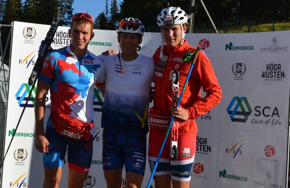 Александр Большунов уступил в этот день шведскому спортсмену и завоевал серебро.
