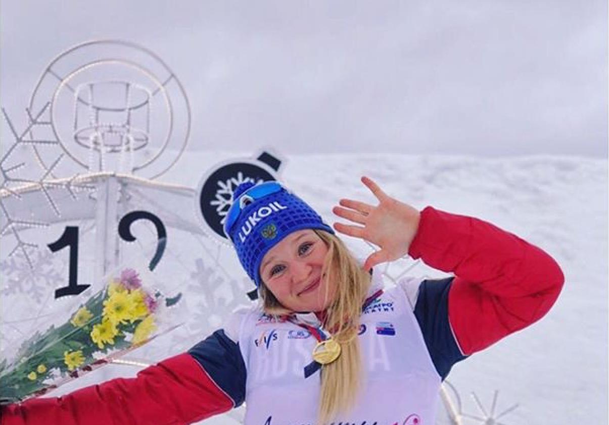 Победительница спринта у юниорок до 23 лет Полина Некрасова.