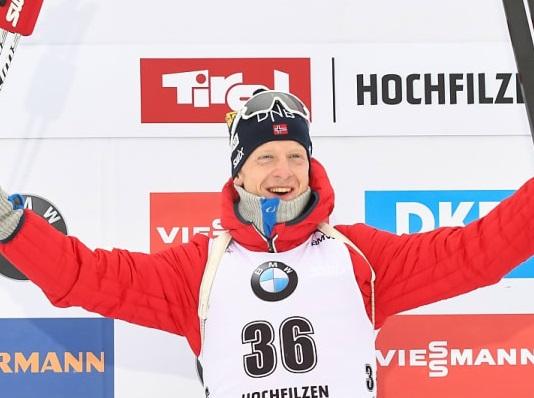 Норвежец Бё одержал победу гонку преследования вАвстрии. Цветков— 6-й