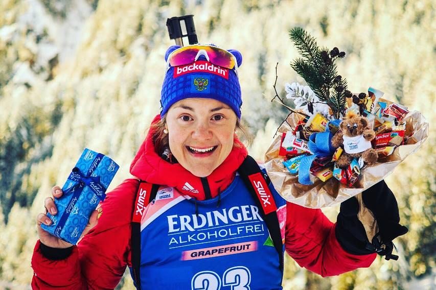Дарья Домрачева завоевала «бронзу» вгонке преследования наэтапе Кубка мира