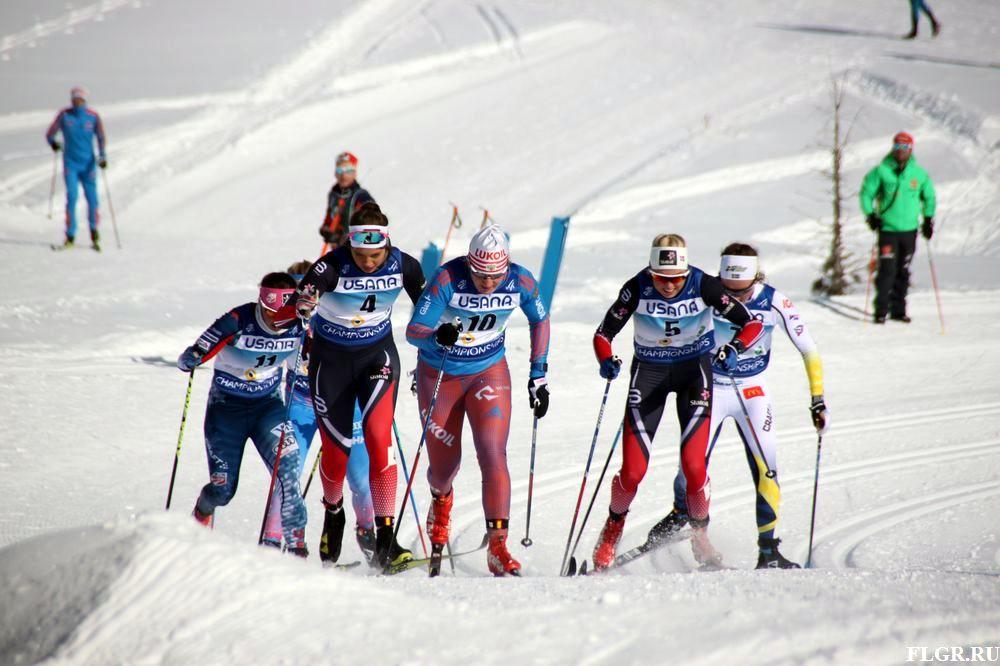 Полина Некрасова во время своего спринтерского триумфа.
