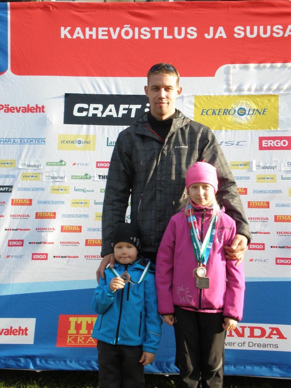 Вигар Вагул с детьми, Каймаром и Грете