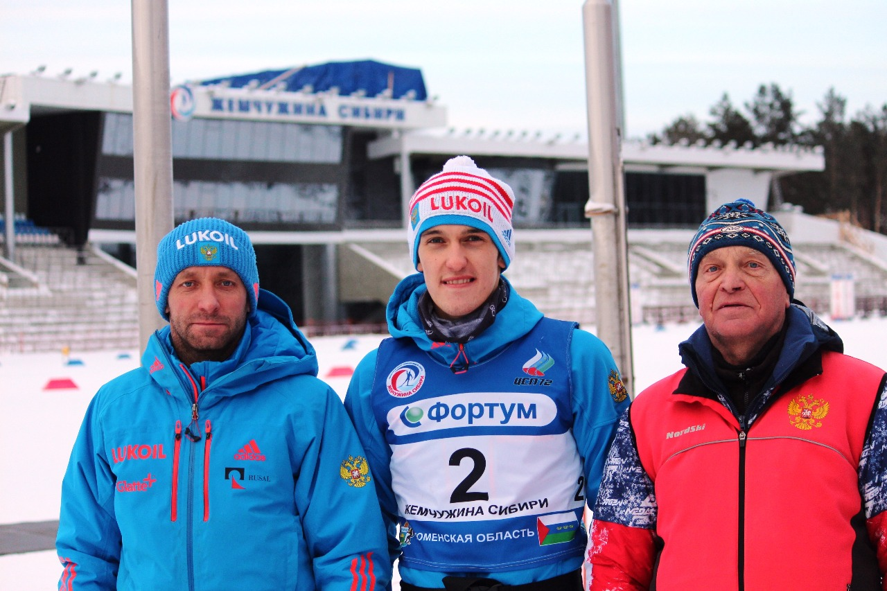 Александр Кравченко, Владислав Вечканов и его личный тренер Владимир Семенович Котов.