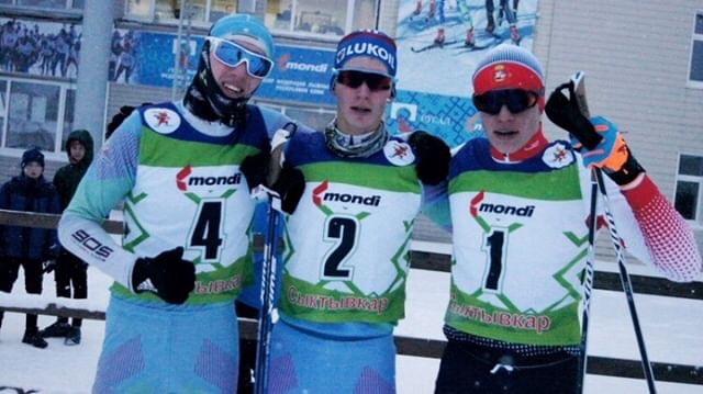 Победитель и призеры спринта среди юношей.