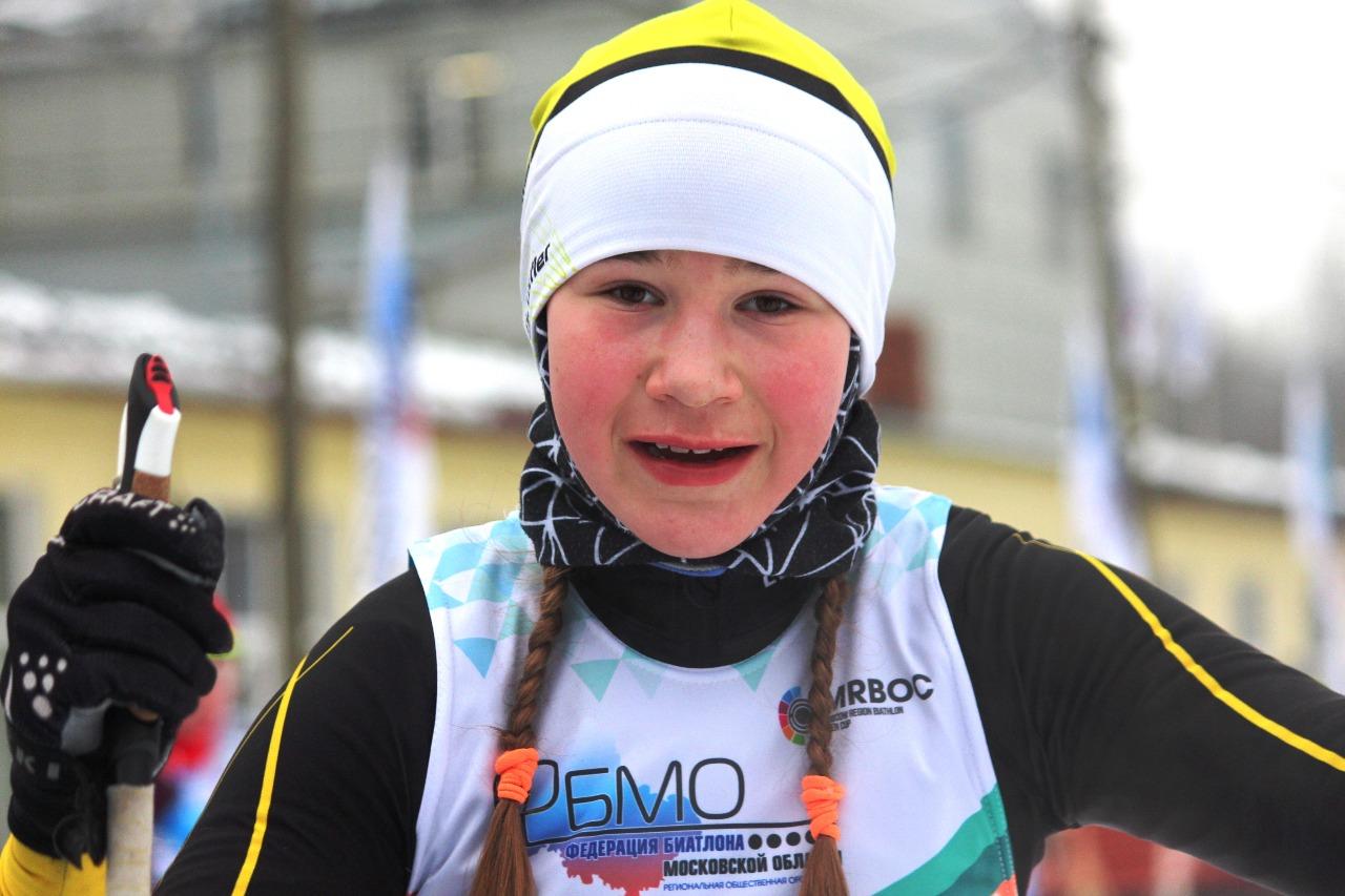София Богословская после финиша первого этапа.
