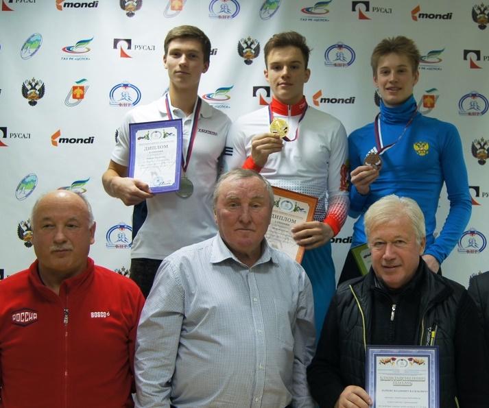 Победитель и призеры гонки на 7,5 км свободным стилем