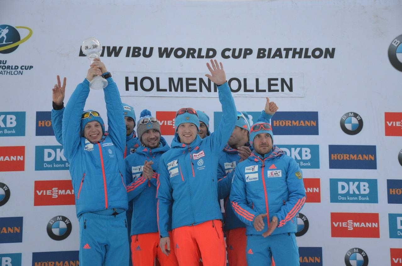 Сборная России выиграла зачет мужских эстафет