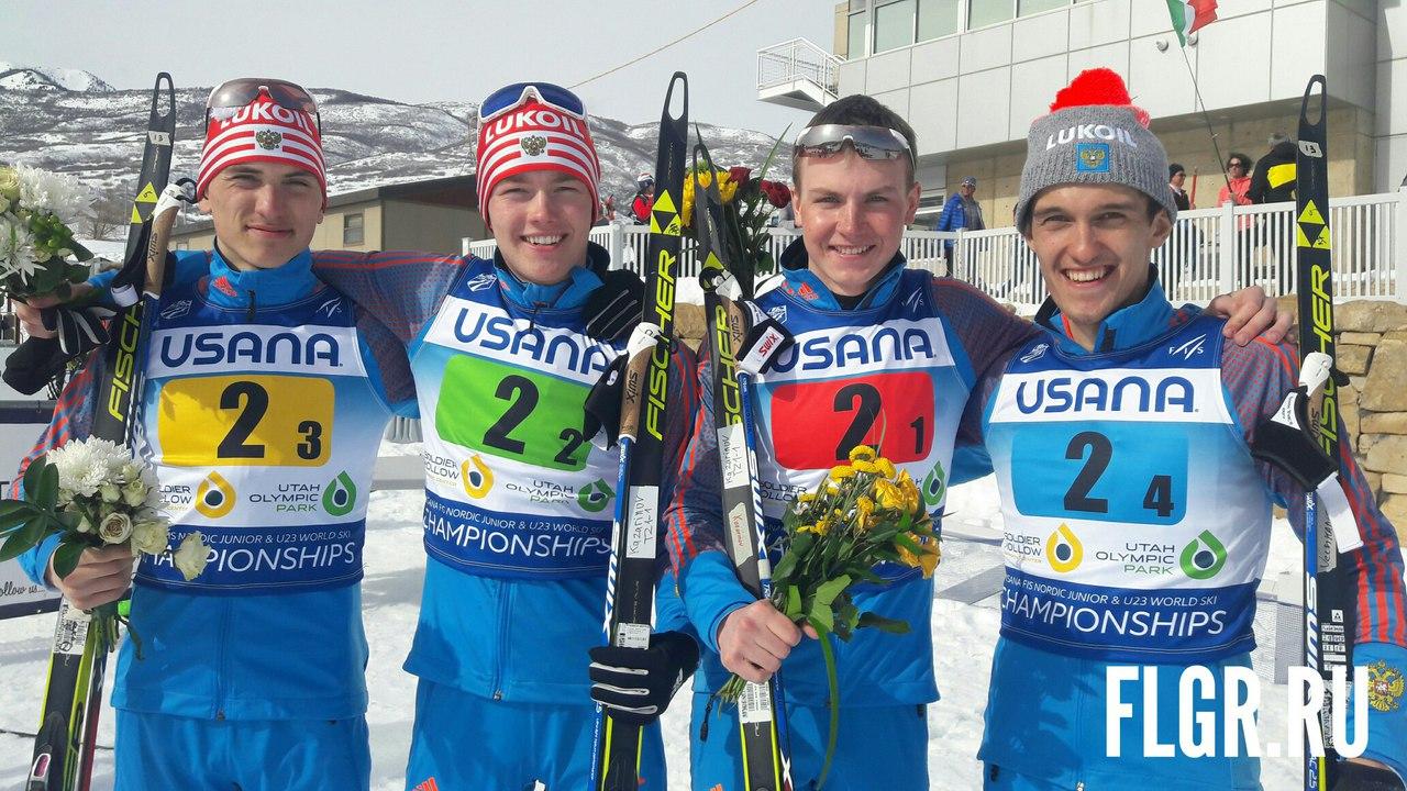 Наша эстафетная четверка: Ярослав Рыбочкин, Кирилл Киливнюк, Егор Казаринов и Владислав Вечканов - серебряные призеры.