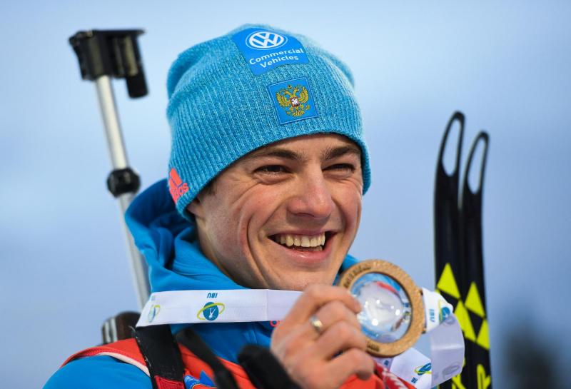 Бабиков завоевал бронзу вмасс-старте наэтапе Кубка мира побиатлону