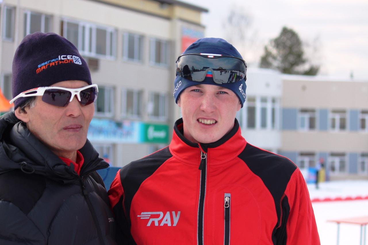 Ярослав Егошин с массажистом тюменской команды.