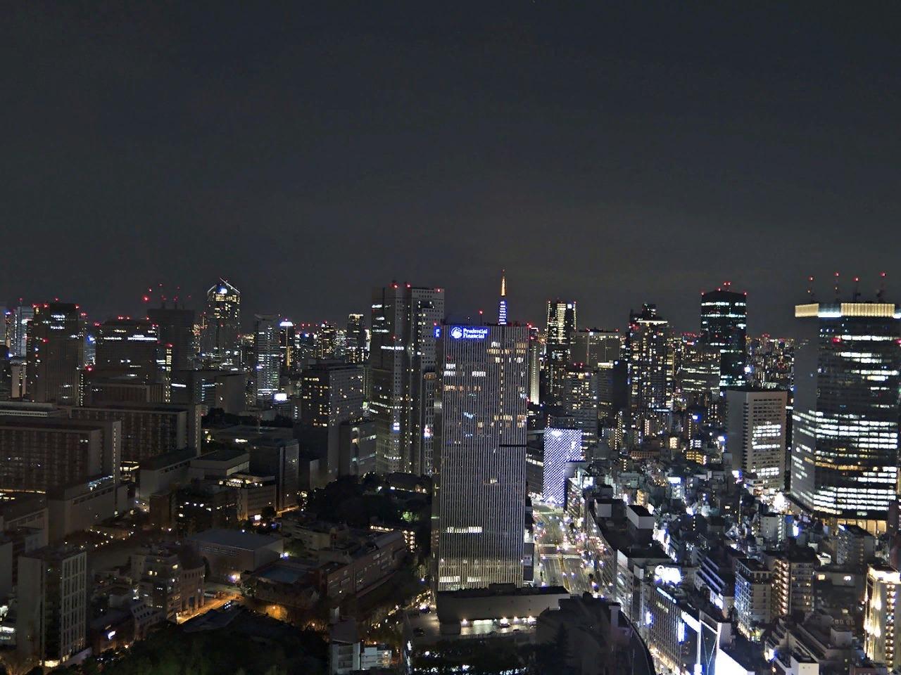 Ночной Токио, вид с 33 этажа отеля.