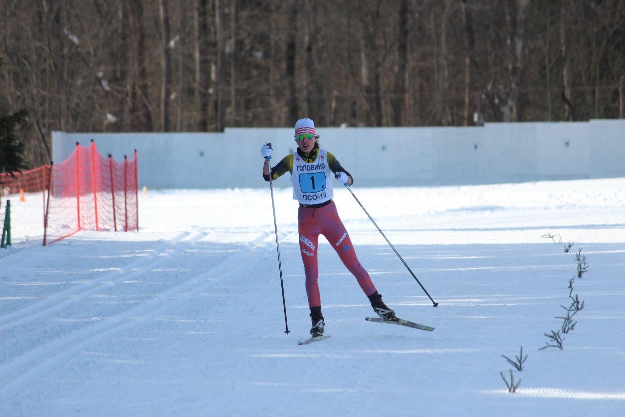 Валерия Абражеева на финише.