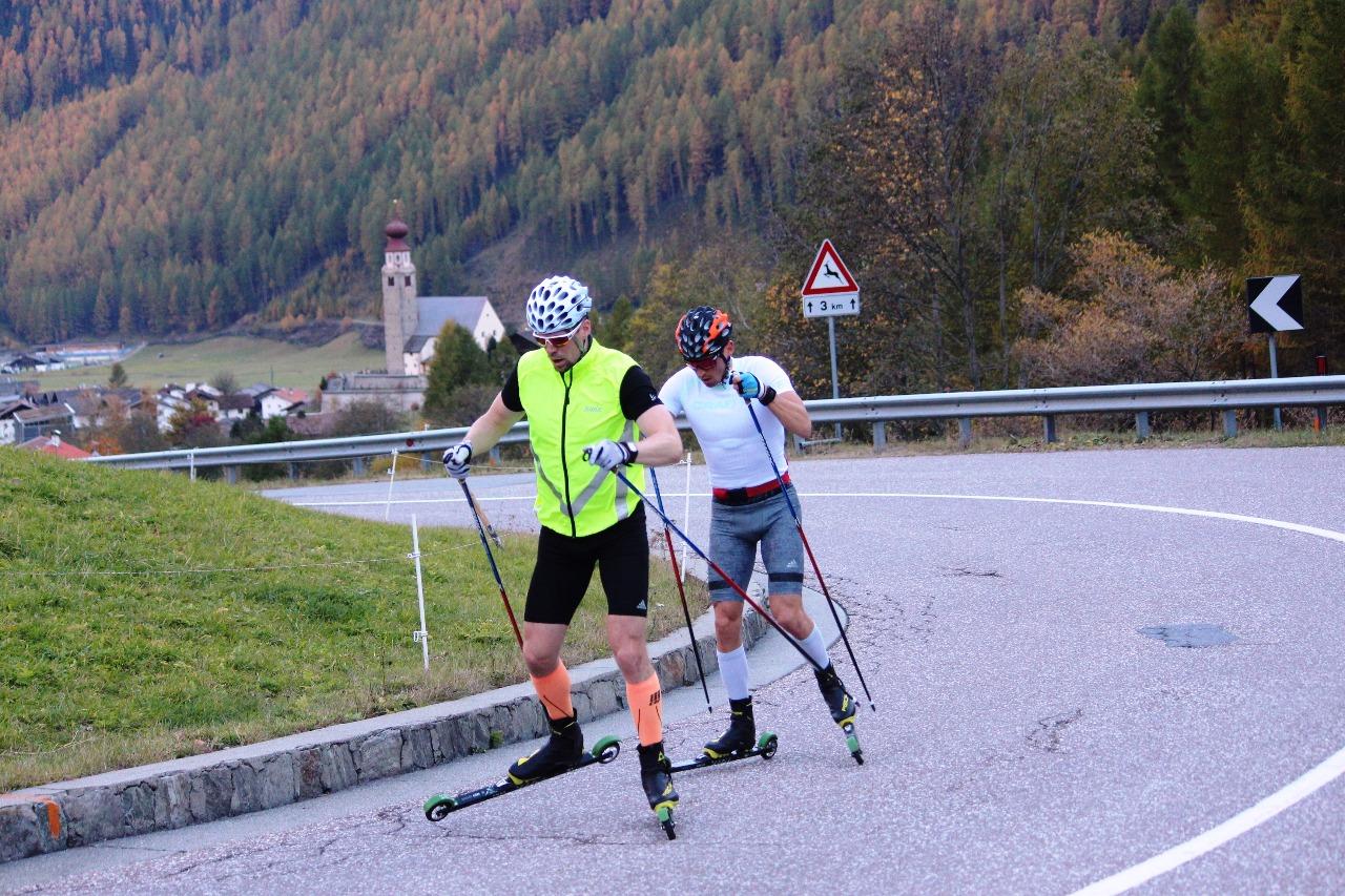 На высоте примерно 1550 метров над уровнем моря. после поселка Мадонна ди Сеналес спортсмены заканчивали последний повтор по 7 минут. Здесь дорога резко берет вверх, начинается крутой серпантин.