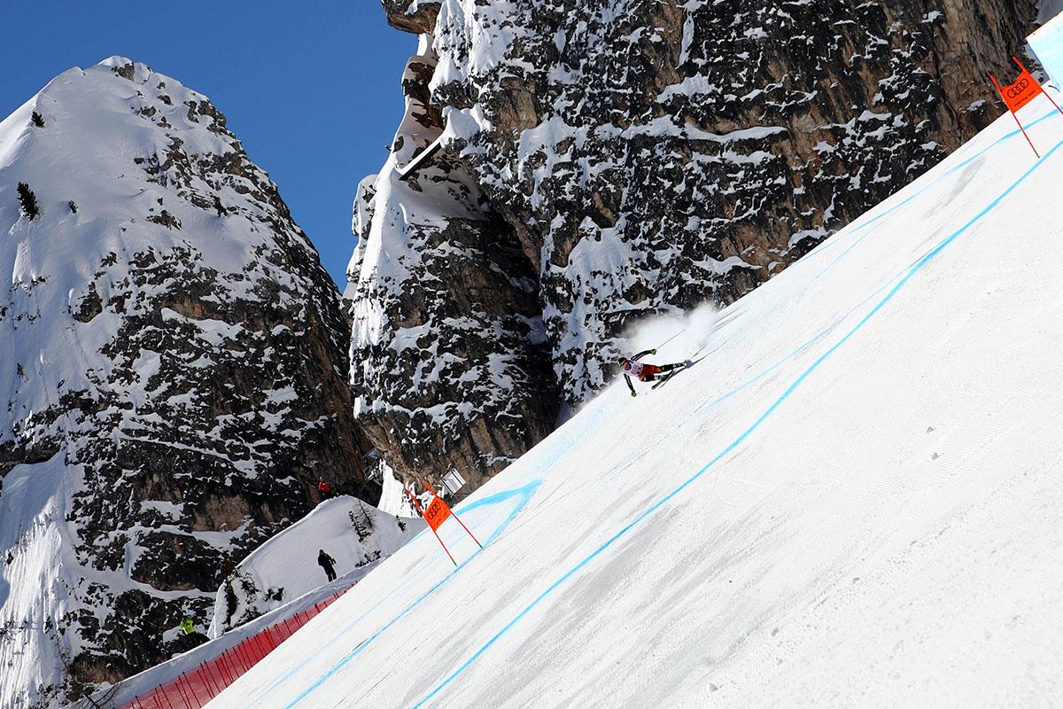 Скандальная трасса мужского супергиганта в Кортине д'Ампеццо на ЧМ 2021