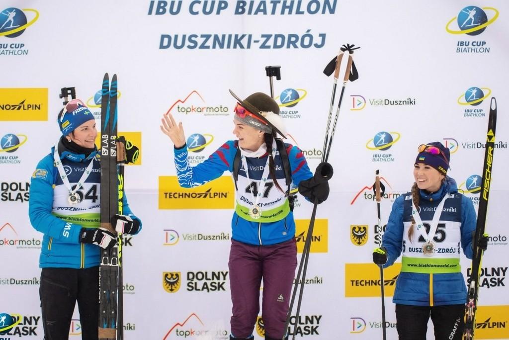 Наталья Гербулова выиграла спринт на этапе Кубка IBU ...