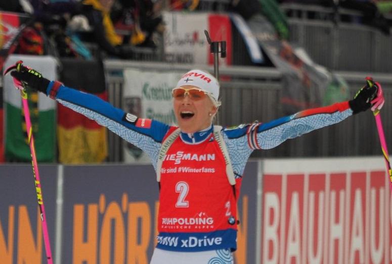 Мякяряйнен выиграла драматичный масс-старт вРупольдинге, россиянки— вне топ-20