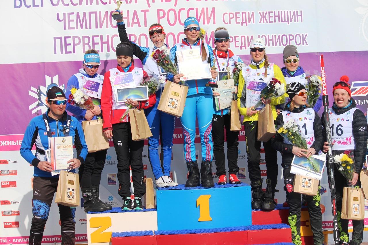 Десятка сильнейших на апатитском марафоне Чемпионата России.