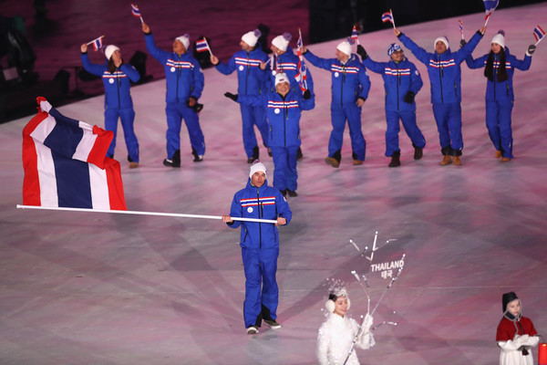 Марк Чанлунг – знаменосец сборной Таиланда на Олимпийских играх в Пхенчхане