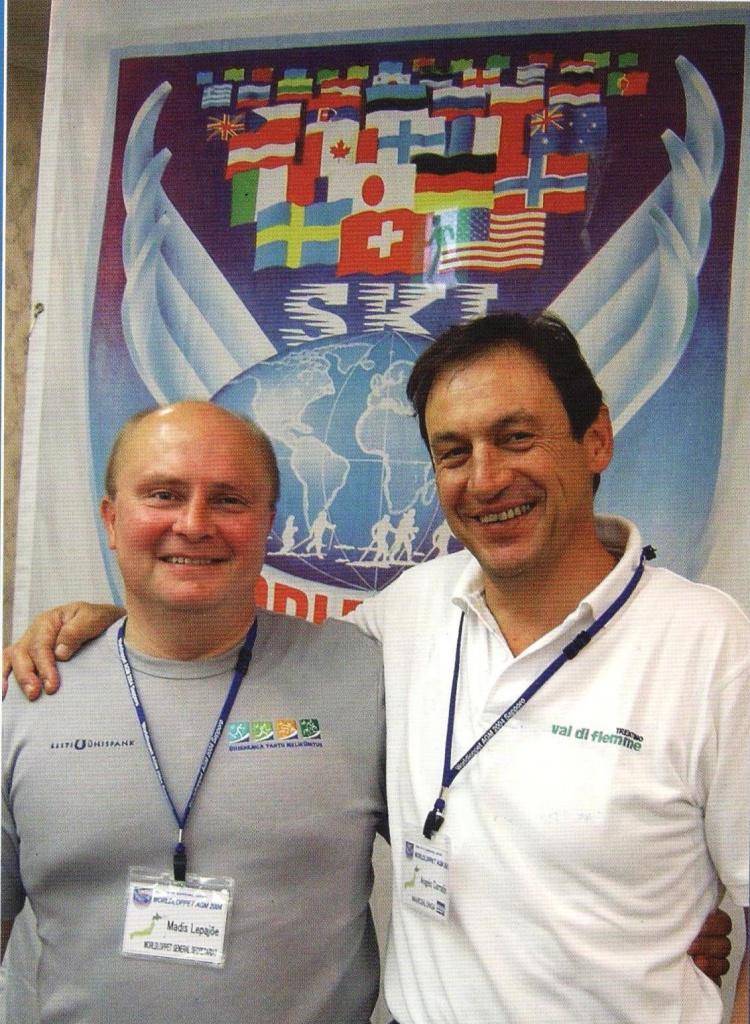Два генеральных секретаря Worldloppet: Мадис Липаё (1998 - 2004 гг., слева) и Анжело Коррадини (2004 - 2016 гг., справа).